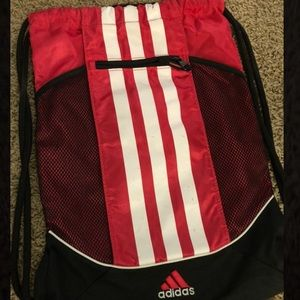 Adidas pink drawstring bag